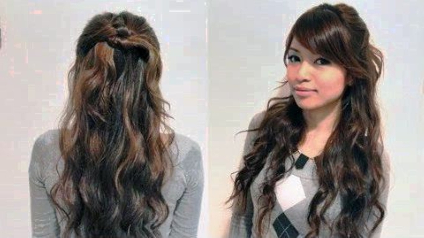 Most Current Easy Wedding Hairstyles For Long Straight Hair With Regard To Photo: Easy Curly Hairstyles For Straight Hair 10 Quick And Easy (View 5 of 15)