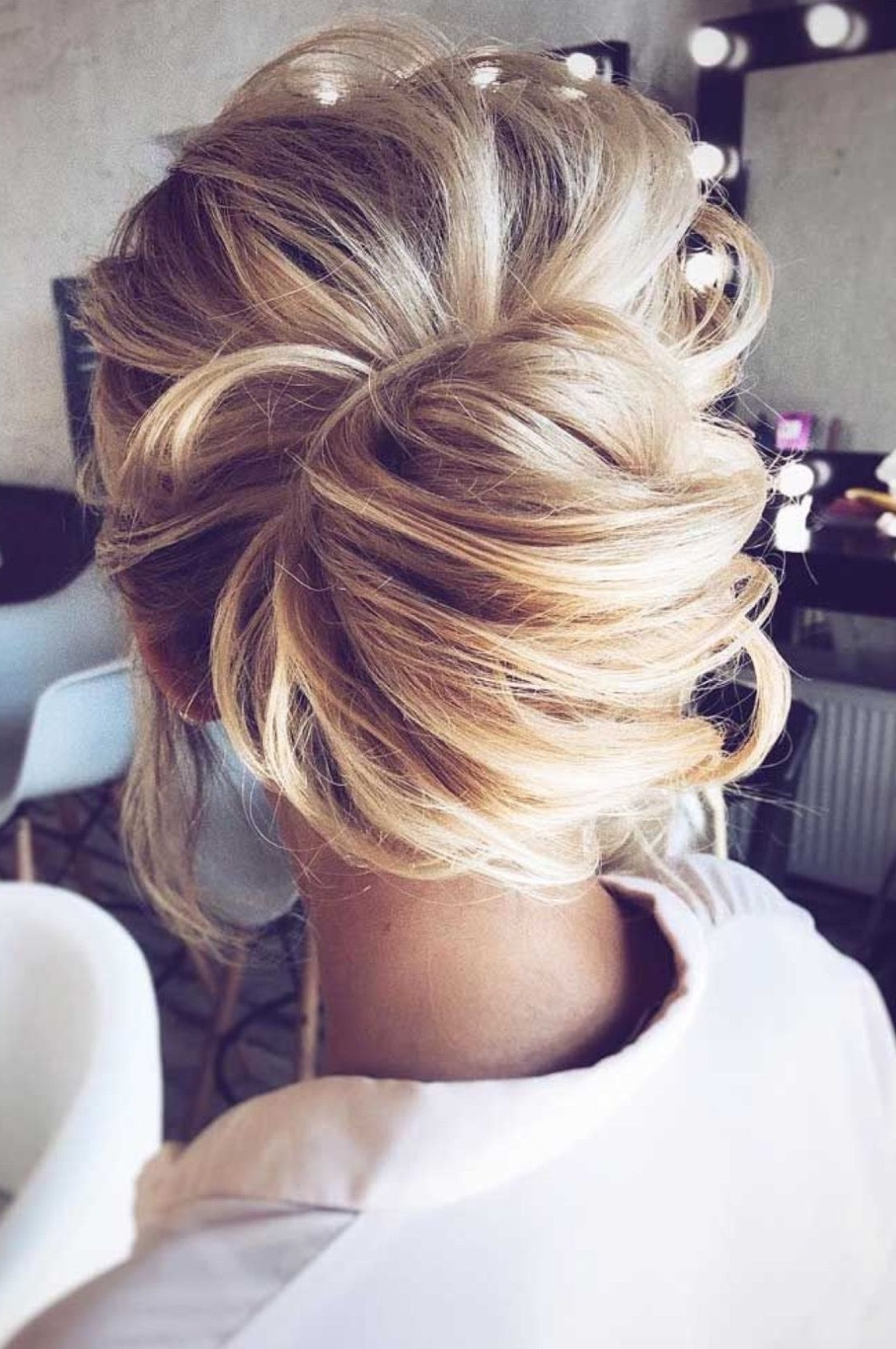 Most Current Messy Bun Wedding Hairstyles Within Modern Day Chignon Style Low Messy Bun Updo– Beautiful Look For Any (View 14 of 15)