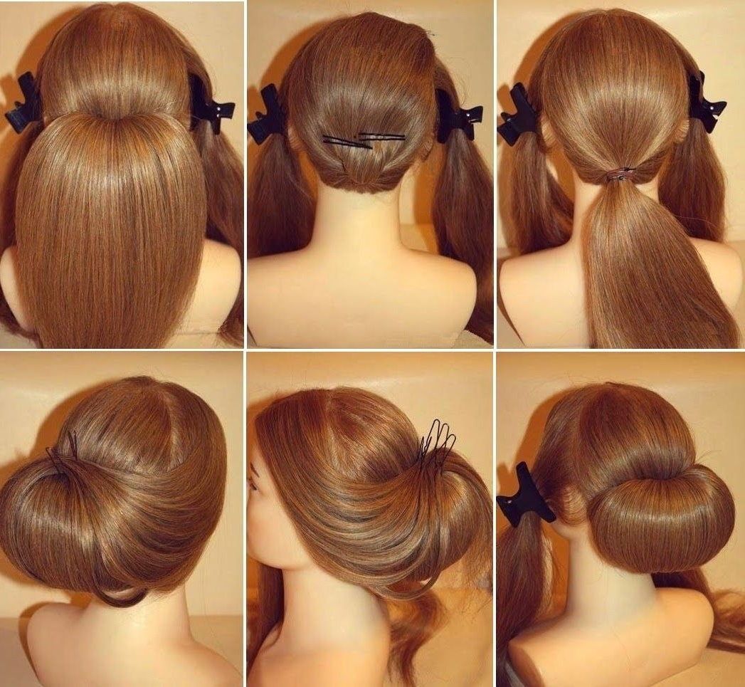 Most Current Roll Hairstyles For Wedding Regarding Diy: How To Stunning Roll Up Wedding Updo Hairstyle – Tutorial (View 10 of 15)
