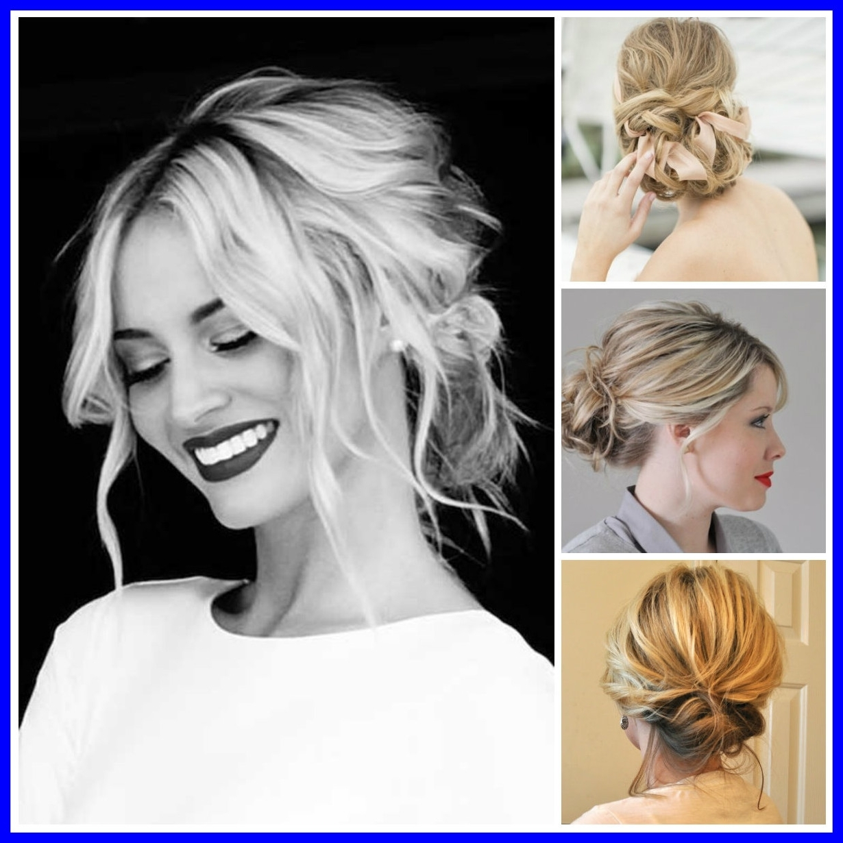 Most Current Simple Wedding Hairstyles For Shoulder Length Hair Within Fascinating Easy Updo Medium Hair Hairstyle For Women U Man Picture (View 8 of 15)
