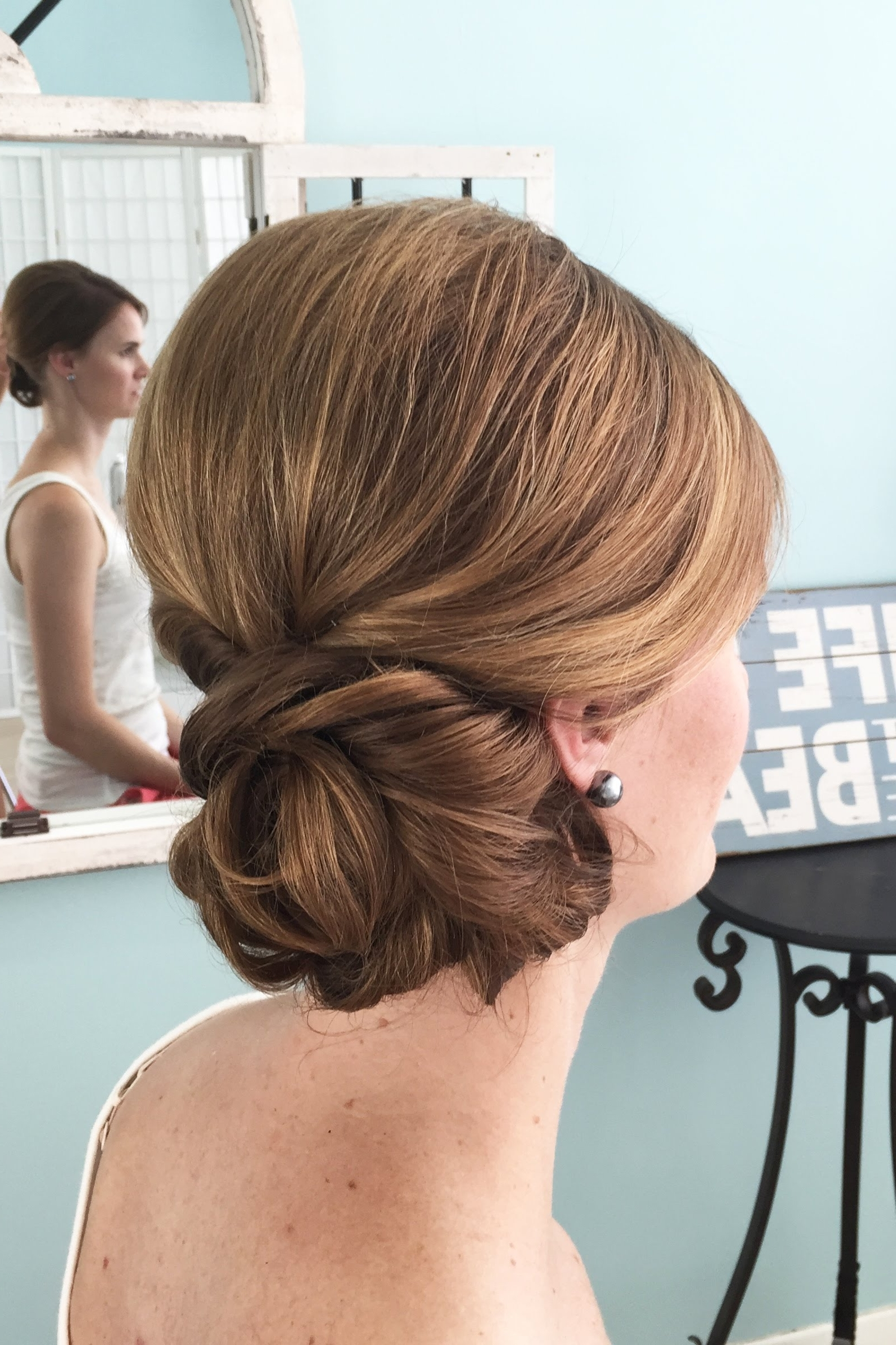 Most Current Wedding Hairstyles For Mid Length Fine Hair Regarding Wedding Hair Video – Side Do On Fine Hair – Youtube (View 4 of 15)