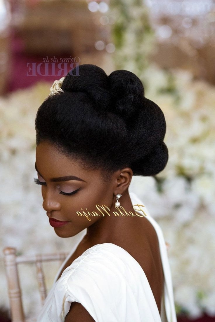 Most Current Wedding Hairstyles For Natural Afro Hair In 28 Best Natural Hair Bridal Inspiration Images On Pinterest (View 10 of 15)