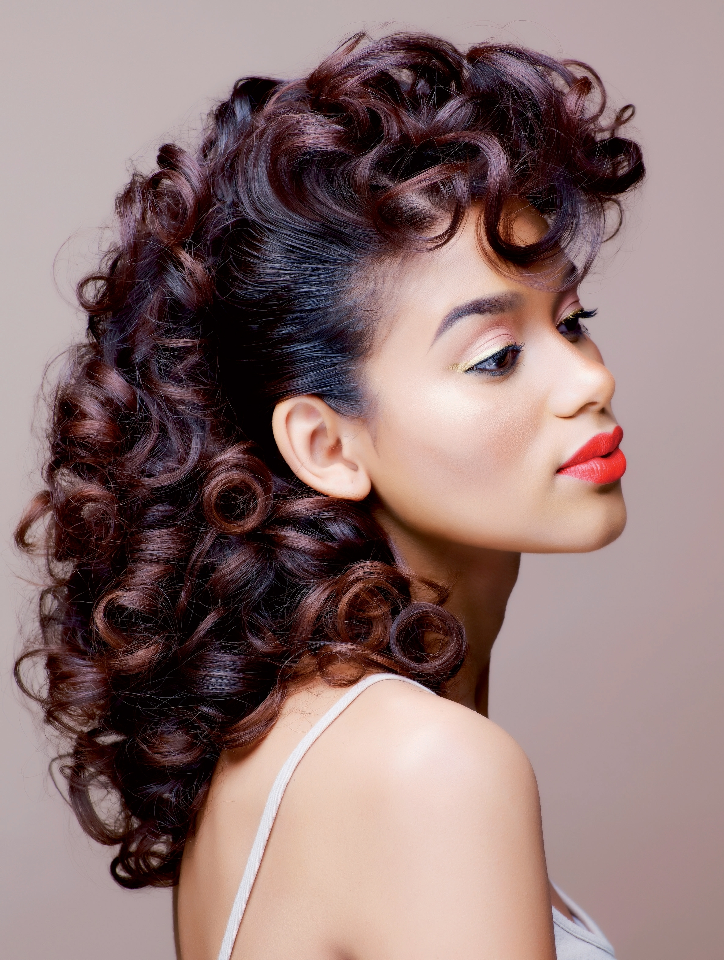 Most Current Wedding Hairstyles For Relaxed Hair Pertaining To Best Picture Of Roller Set Hairstyles For Black Hair (View 10 of 15)