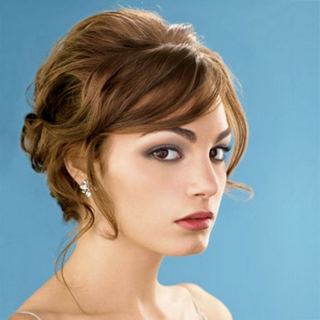 Most Current Wedding Hairstyles For Short Hair And Bangs Within √ Beautiful Bridesmaid Hairstyle For Short Hair Bridesmaid (View 10 of 15)
