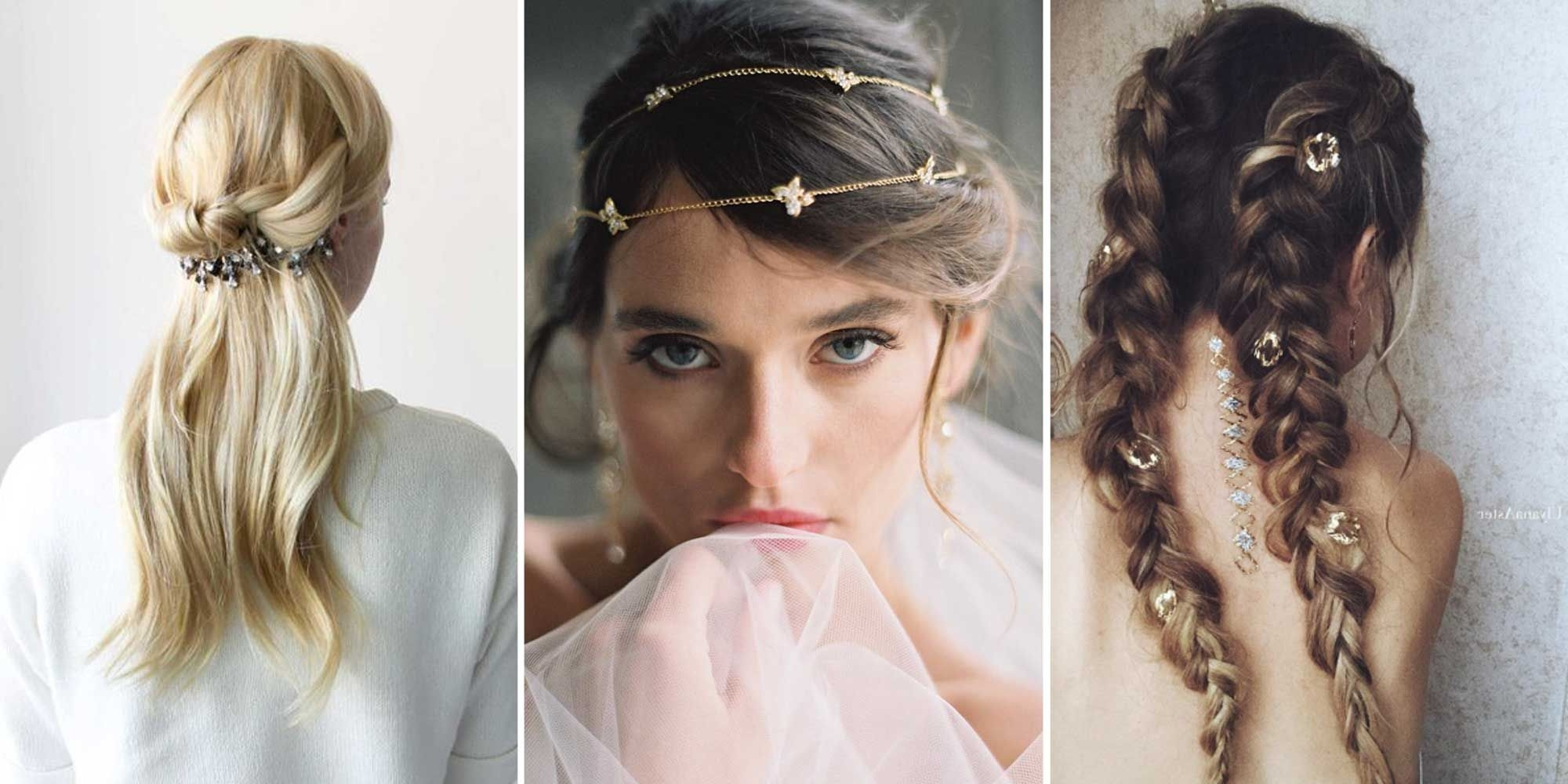 Most Current Wedding Hairstyles With Hair Jewelry Throughout Ways To Wear Hair Jewelry – Beautiful Hair Accessories (View 12 of 15)