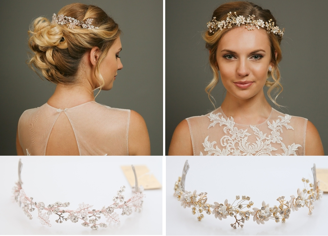Most Current Wedding Hairstyles With Jewelry Throughout New Hair Vines & Hair Jewellery – Richard Designs (View 12 of 15)