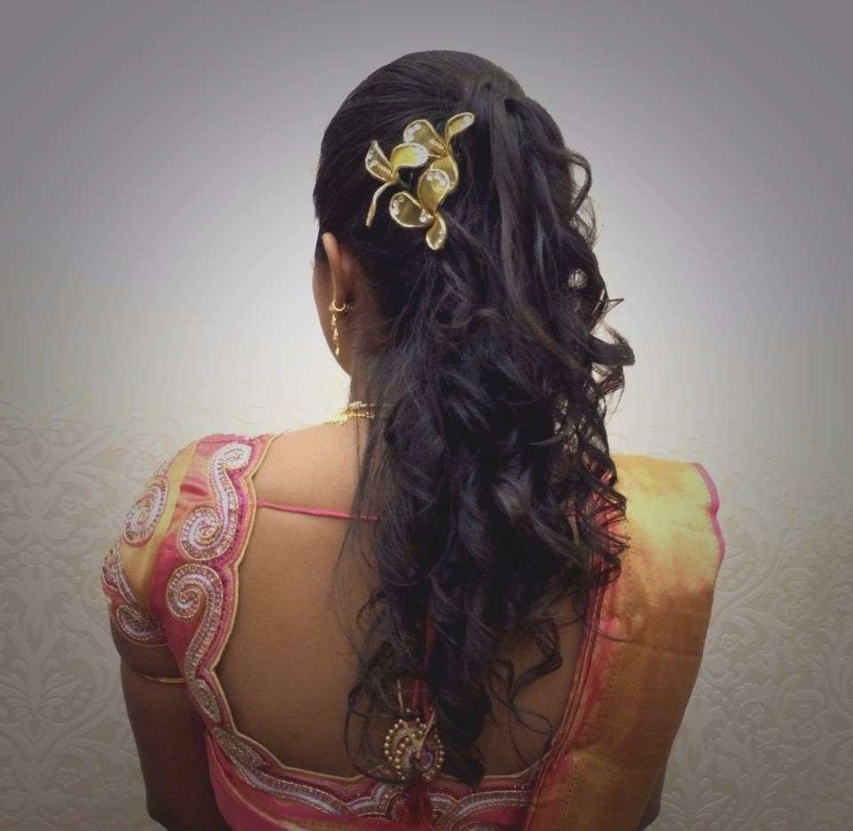 Most Current Wedding Reception Hairstyles For Indian Bride Regarding Wedding Reception Hairstyles Luxury Indian Bride S Bridal Reception (View 13 of 15)
