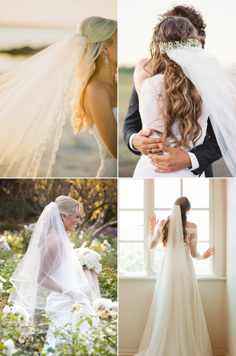 Most Popular Half Up Half Down With Veil Wedding Hairstyles Regarding Awesome Half Up Wedding Hairstyles With Veil Ideas – Styles (Gallery 7 of 15)