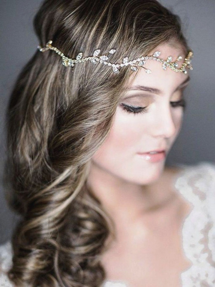 Most Popular Medium Length Straight Hair Wedding Hairstyles In Wedding Hairstyles For Medium Length Easy Hair Indian Straight (View 10 of 15)