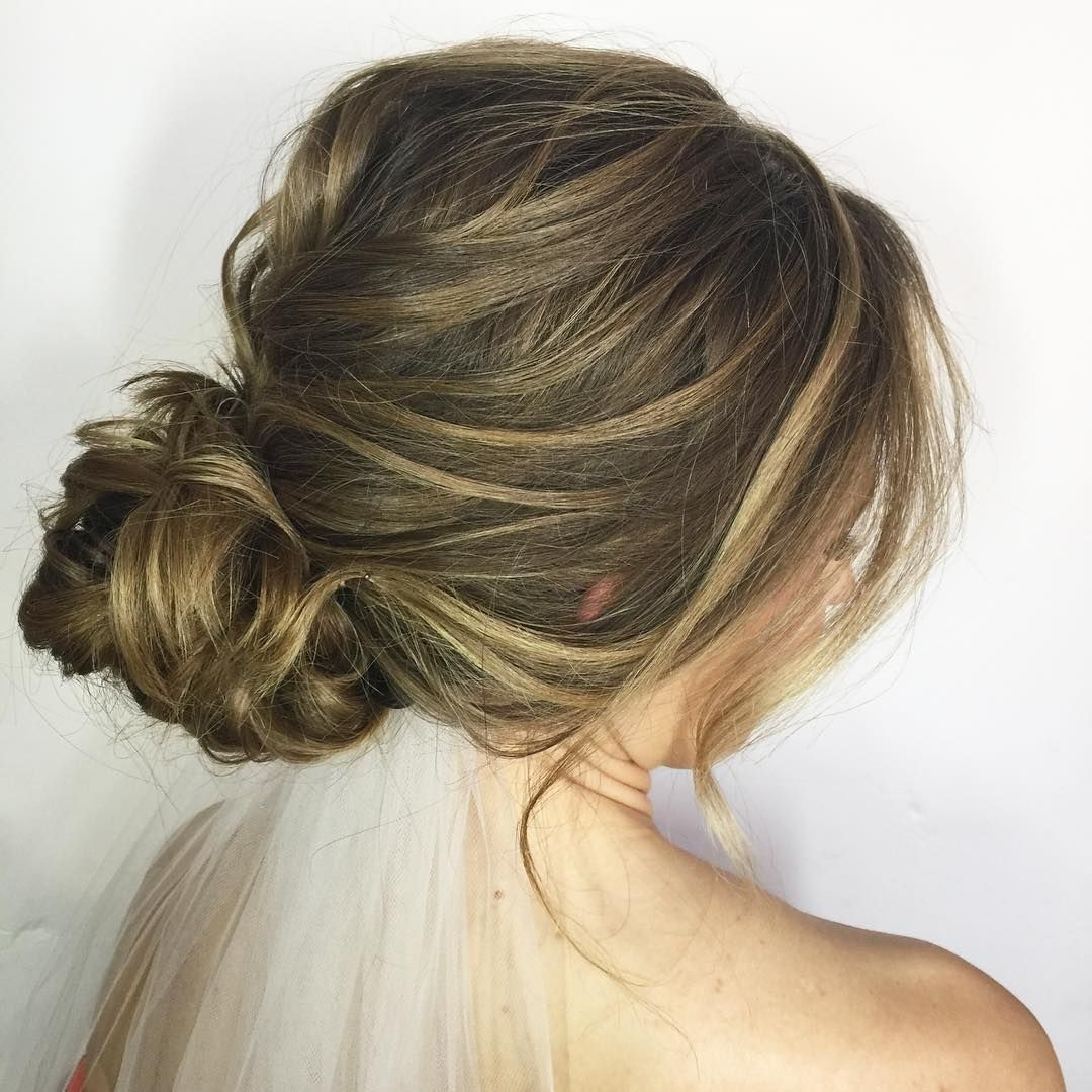 Most Popular Messy Bun Wedding Hairstyles Within 60 Updos For Thin Hair That Score Maximum Style Point (View 11 of 15)
