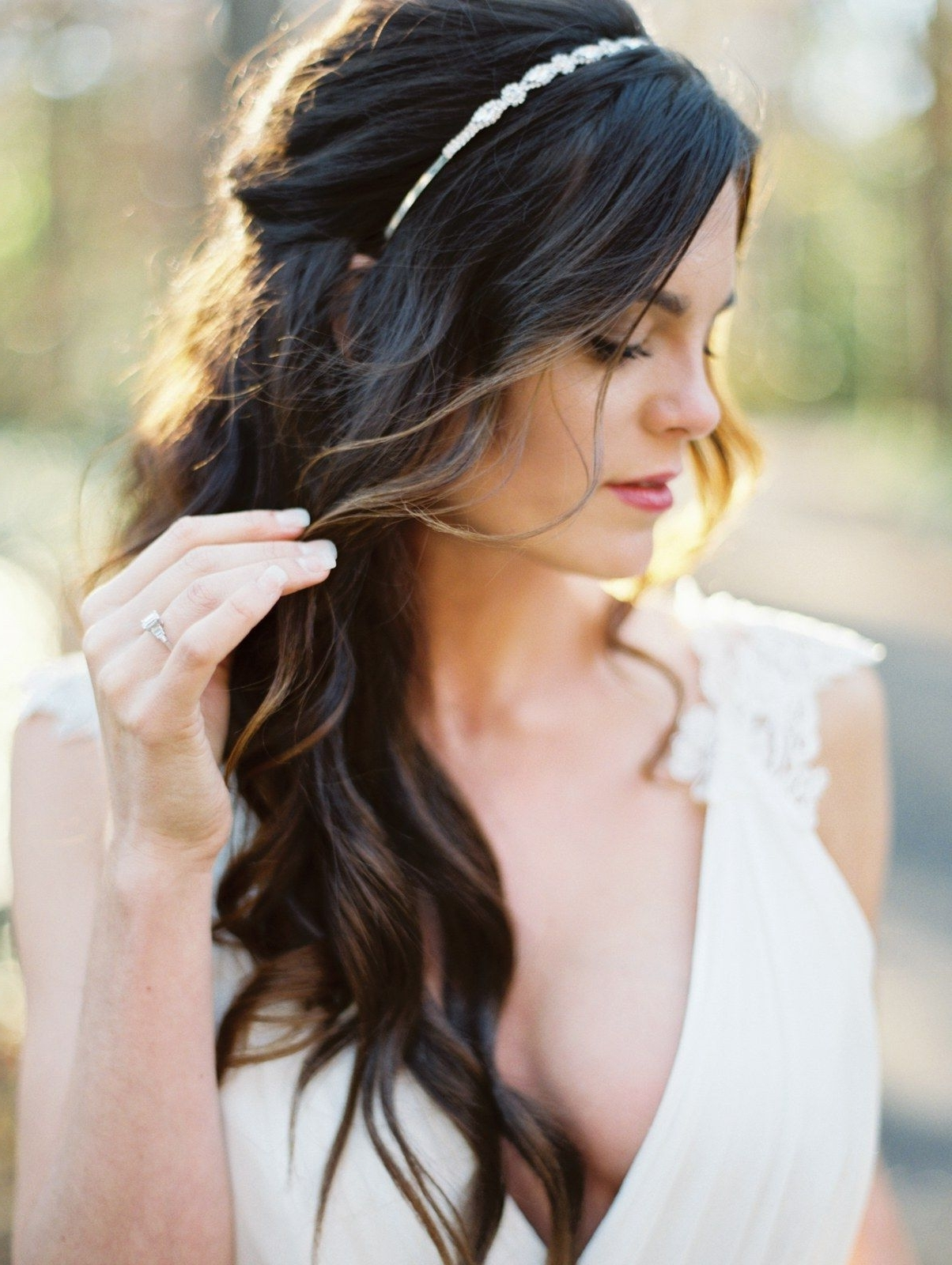 Most Popular Wedding Hairstyles Down With Headband Inside Half Up, Half Down Wedding Hairstyles For Every Type Of Bride (View 7 of 15)