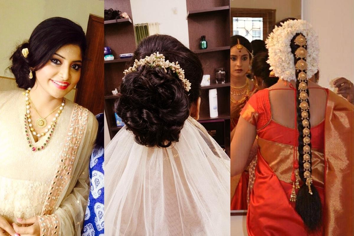 Most Popular Wedding Hairstyles For Kerala Christian Brides For Bridal Makeup – Best Bridal Makeup Kochi Kerala Cochin Ernakulam (View 5 of 15)
