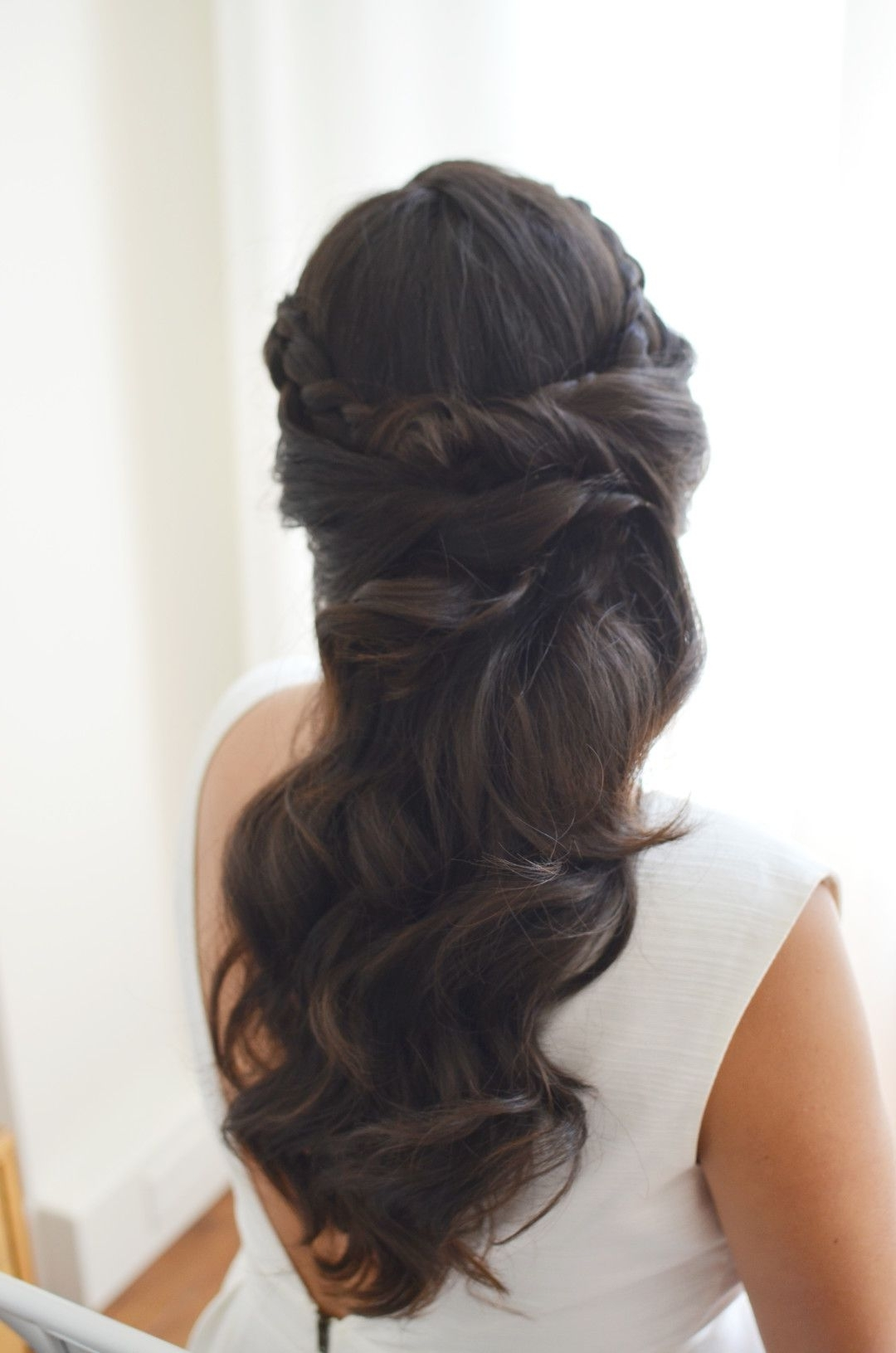 Most Popular Wedding Hairstyles For Long Dark Hair With Regard To Elegant Bridal Hair, Best Wedding Hair, Brunette Hairstyles, Half Up (View 6 of 15)