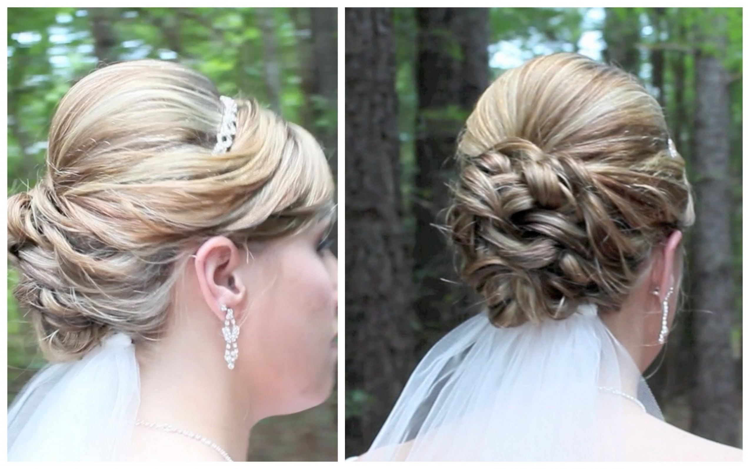 Most Popular Wedding Hairstyles For Long Length Hair Inside Bridal Updo On Shoulder Length Hair – Youtube With Wedding (View 13 of 15)