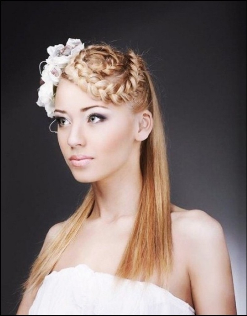 Most Popular Wedding Hairstyles For Long Straight Hair With Veil Pertaining To Photo: Straight Hair Wedding Hairstyles Wedding Hairstyles For Long (View 12 of 15)