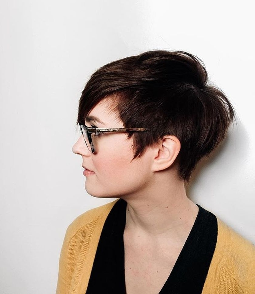 Most Popular Wedding Hairstyles With Glasses Inside 100 Best Short Hair Pixie Cut Hairstyle With Glasses Ideas That You (View 11 of 15)
