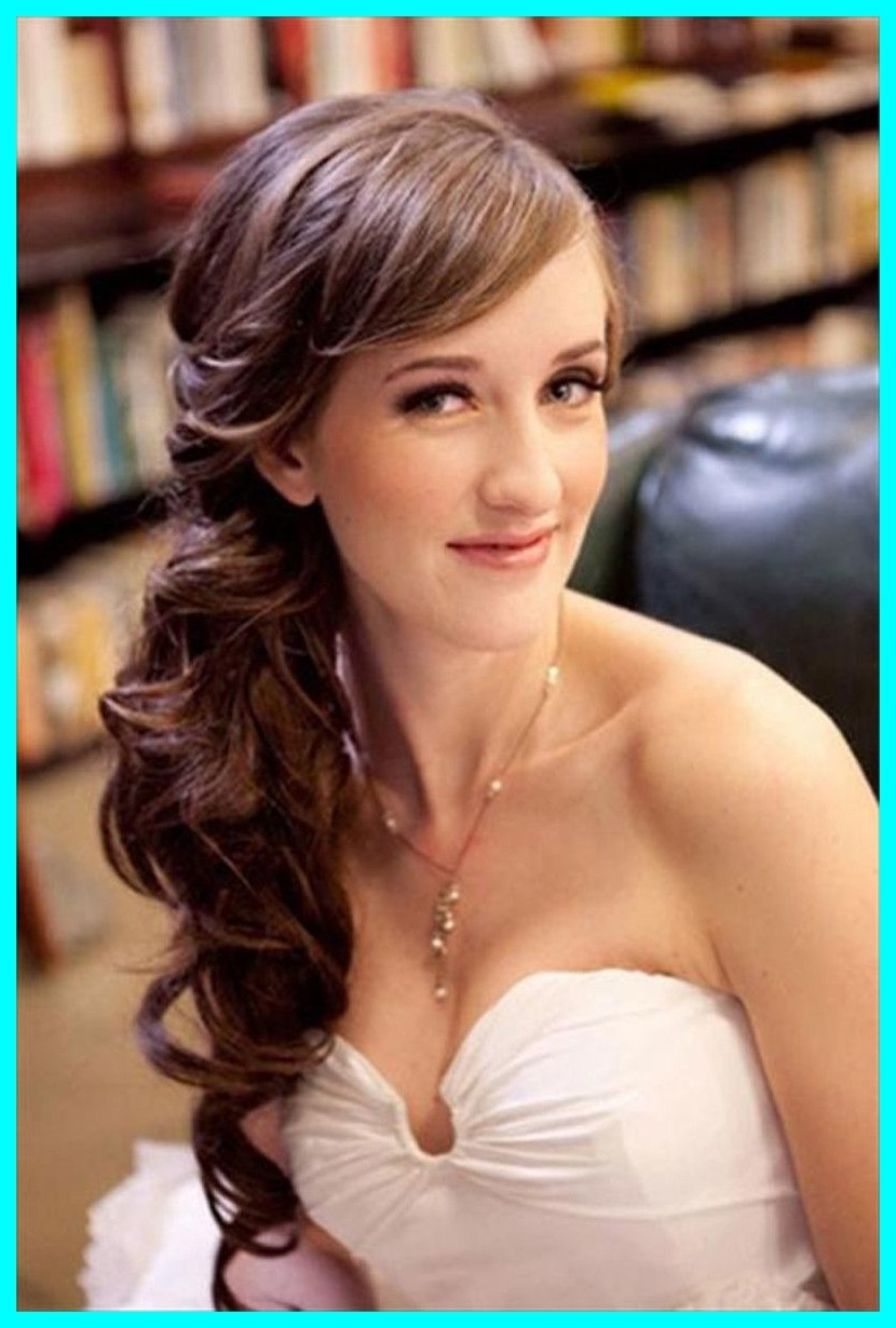 Most Popular Wedding Hairstyles With Side Ponytail Braid Inside The Best Side Pony Wedding Hairstyles Pics Of Long Hair To (View 4 of 15)