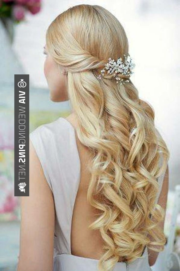 Most Recent Beach Wedding Hairstyles For Long Curly Hair Pertaining To Nice – Wedding Hairstyles For Long Hair Half Up Long Beach Wedding (View 10 of 15)