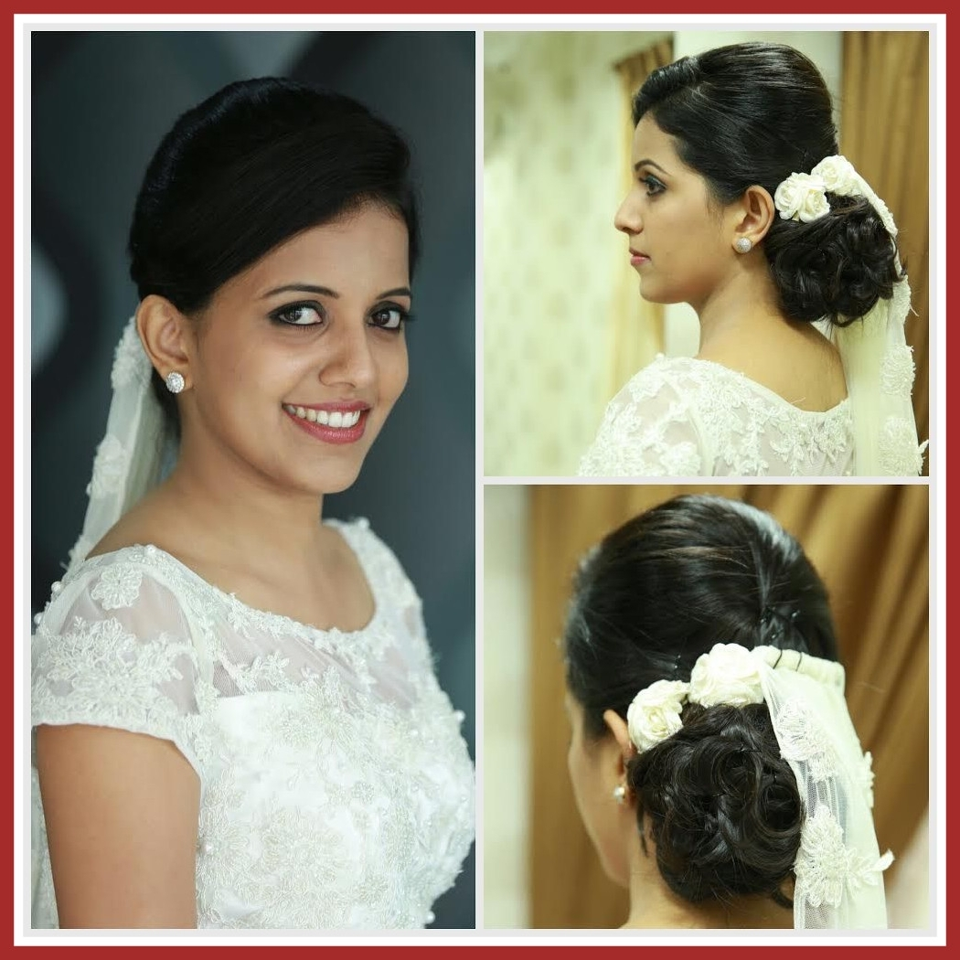 Most Recent Christian Bride Wedding Hairstyles Within Best Christian Bridal Hairstyles Kerala Ideas Image For Wedding And (View 5 of 15)
