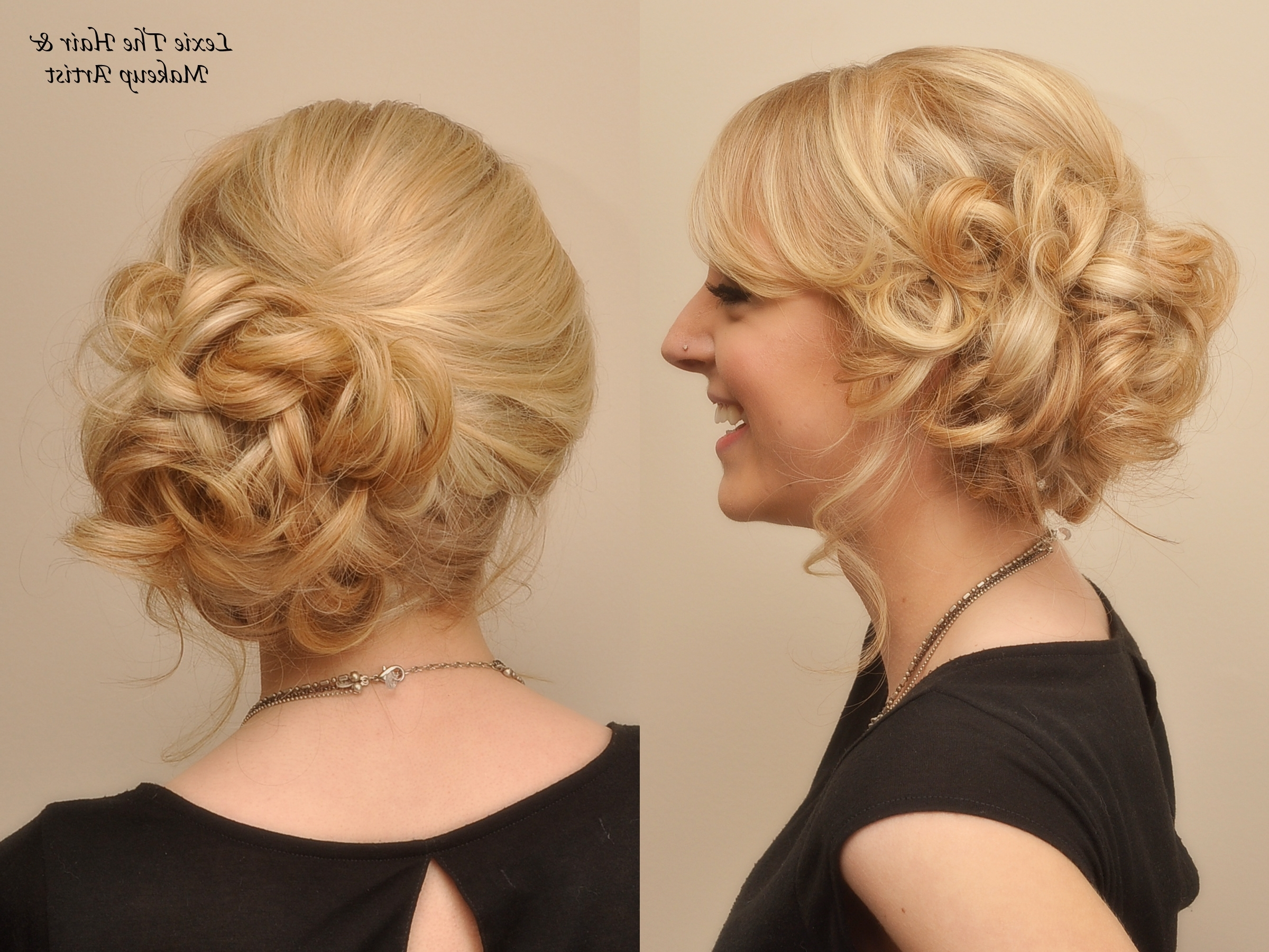 Most Recent Curly Side Bun Wedding Hairstyles Intended For Useful Curly Bun Hairstyles Wedding In Side Bun Updo Google Search (View 7 of 15)