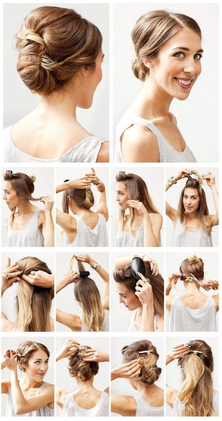 Most Recent Easy Wedding Hair For Bridesmaids With Regard To 12 Hottest Wedding Hairstyles Tutorials For Brides And Bridesmaids (View 10 of 15)