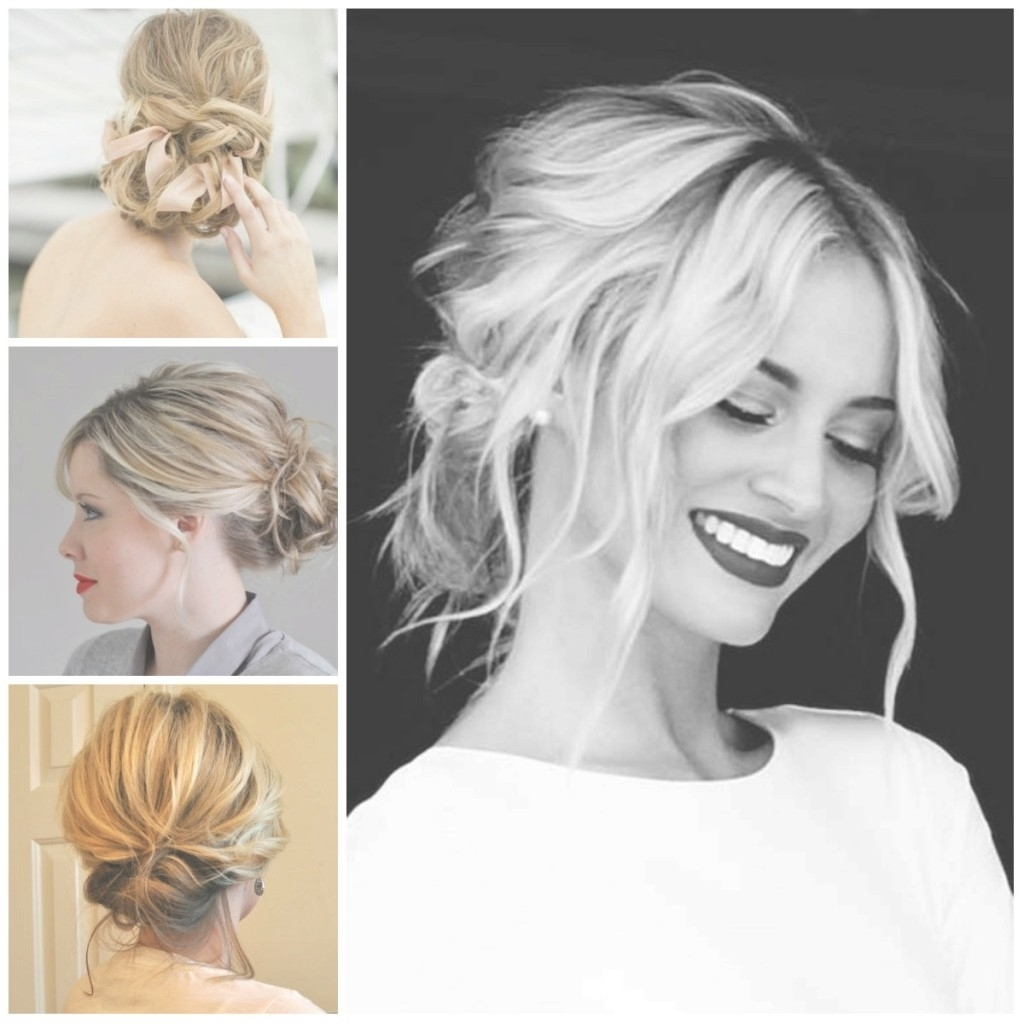 Most Recent Easy Wedding Hairstyles For Medium Length Hair Pertaining To Fancy Modern Updos For Medium Length Hair Easy Updo For Medium (View 9 of 15)