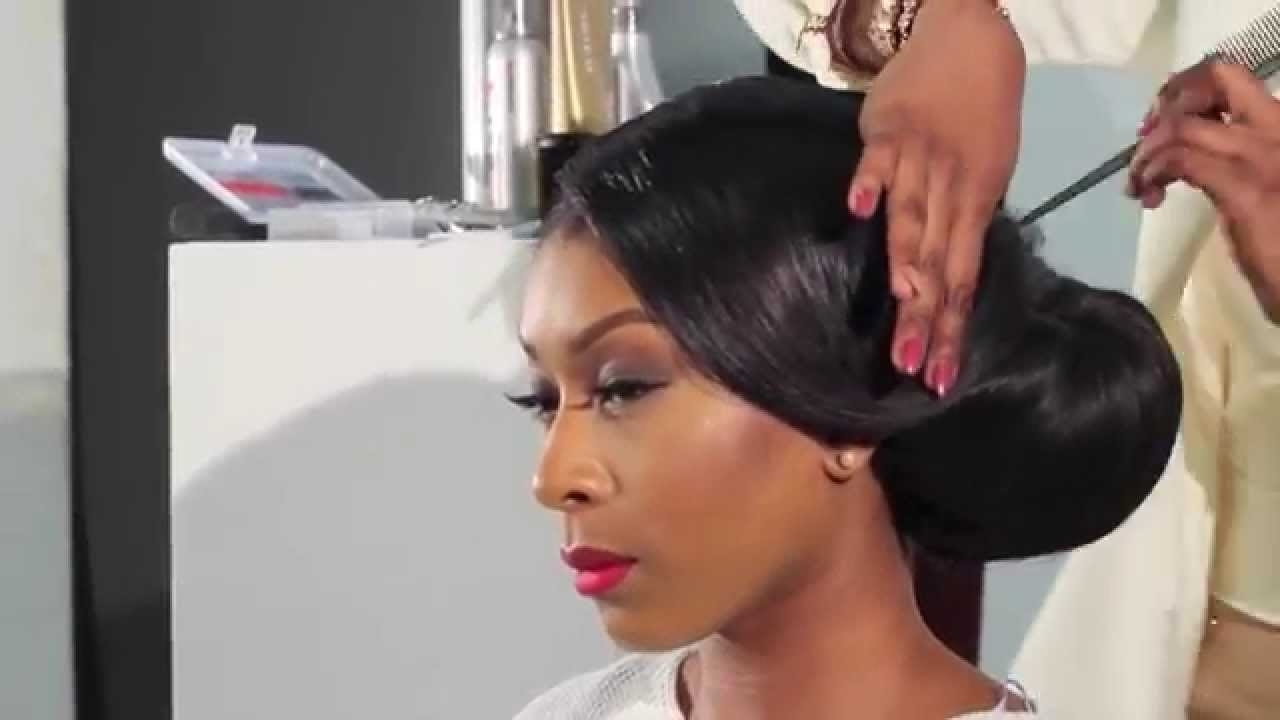 Most Recent Wedding Hair For Black Bridesmaids In How To Do A Side Sweep Bun – Bridal Hair Inspiration – Youtube (View 6 of 15)