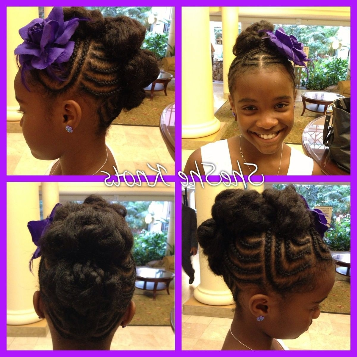 Most Recent Wedding Hairstyles For Black Girl Regarding 94 Remarkable Wedding Hairstyles For Little Black Girl Image (View 9 of 15)