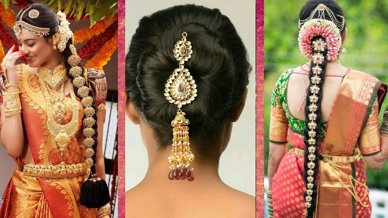 Most Recent Wedding Hairstyles For Indian Bridesmaids Pertaining To Indian Bridal Hairstyles (View 5 of 15)