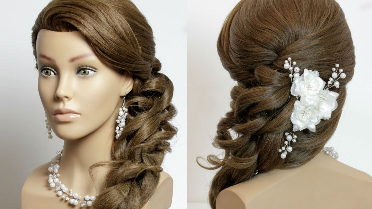 Most Recent Wedding Hairstyles For Long Wavy Hair Pertaining To Prom Bridal Hairstyle For Long Hair With Curls (View 6 of 15)