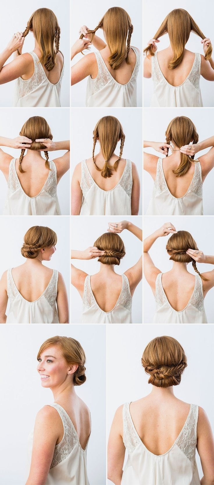 Most Recent Wedding Hairstyles For Round Face With Medium Length Hair Throughout Wedding Hairstyles : View Wedding Hairstyles For Short To Medium (View 9 of 15)