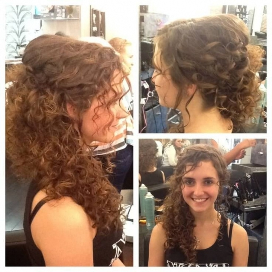 Most Recent Wedding Hairstyles For Short Natural Curly Hair Pertaining To Hairstyle For Short Curlyr Indian Girl Male With Round Cute (View 4 of 15)