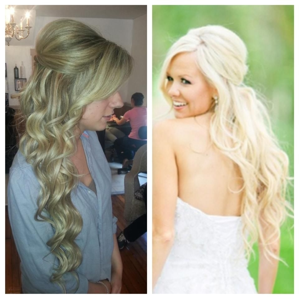 Most Recent Wedding Hairstyles With Extensions Regarding Bridal Hair. Wedding Hair. Long Hair. Extensions. Blonde (View 6 of 15)