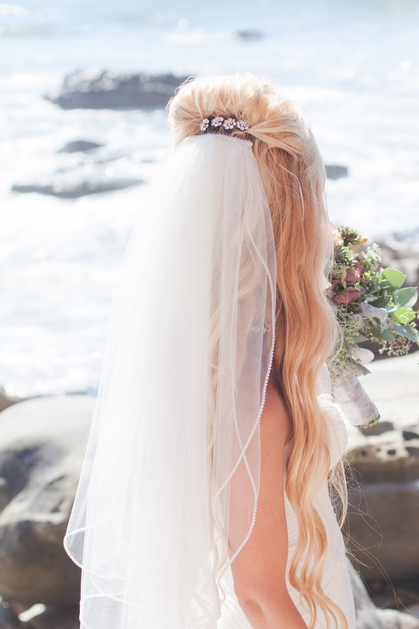 Most Recently Released Half Up With Veil Wedding Hairstyles With Regard To How To Wear A Veil With Every Wedding Hairstyle – Weddingwire (View 9 of 15)