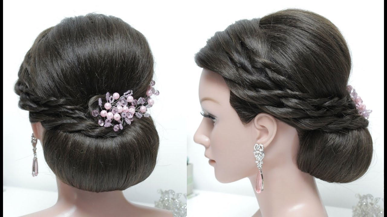Most Recently Released Low Bun Wedding Hairstyles Intended For New Juda Hairstyle For Long Hair Tutorial (View 9 of 15)