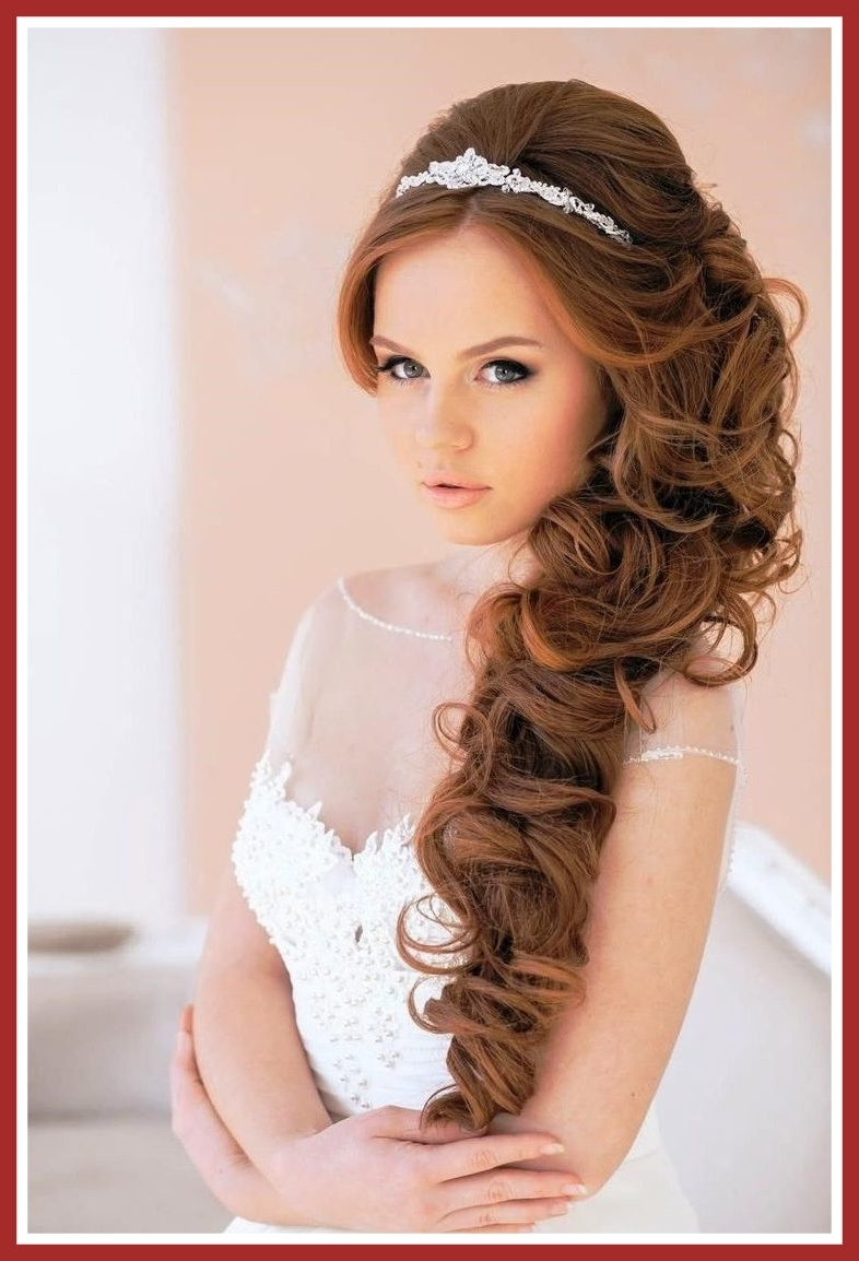 Most Recently Released Modern Wedding Hairstyles Intended For Inspiring Curly Weddingstyles For Long Wedding Hairstyles Hair Stock (View 15 of 15)