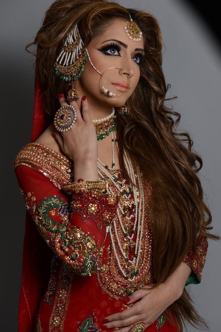 Most Recently Released Pakistani Wedding Hairstyles Inside Awesome Asian Wedding Hairstyles For Long Hair Latest Pakistani (View 10 of 15)