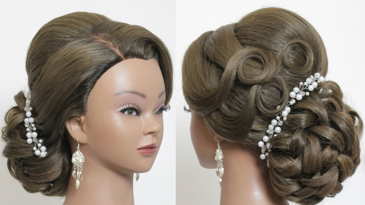 Most Recently Released Roses Wedding Hairstyles Pertaining To Bridal Updo Romantic Hairstyle For Long Thick Hair Hairstyles Updos (View 11 of 15)
