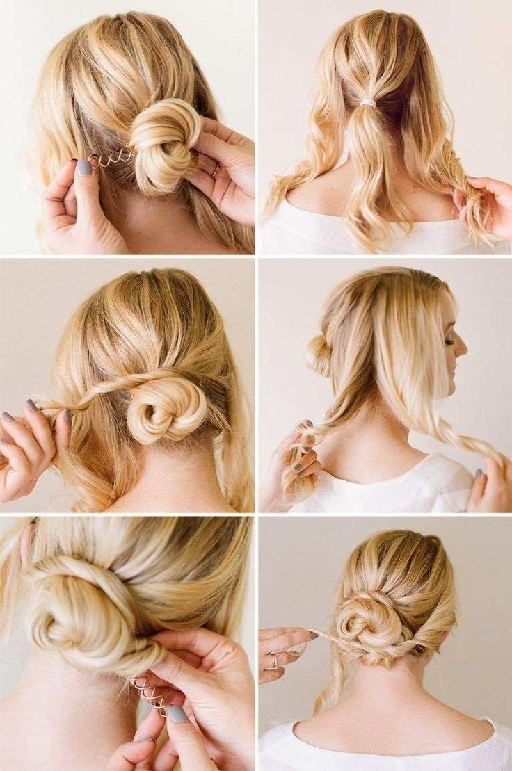 Most Recently Released Tied Up Wedding Hairstyles Intended For Hairstyles Tied Up For Medium Hair At Luxury Chic Updo 736× (View 7 of 15)