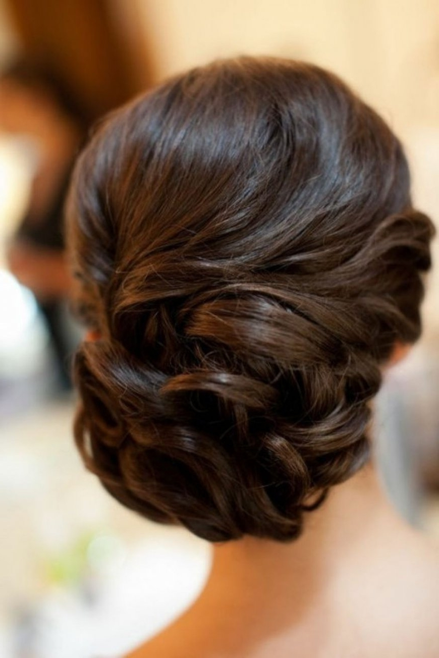 Most Recently Released Updo Wedding Hairstyles For Long Hair With Regard To Wedding Hairstyles Ideas: Side Ponytail Formal Updo Wedding Guest (View 7 of 15)