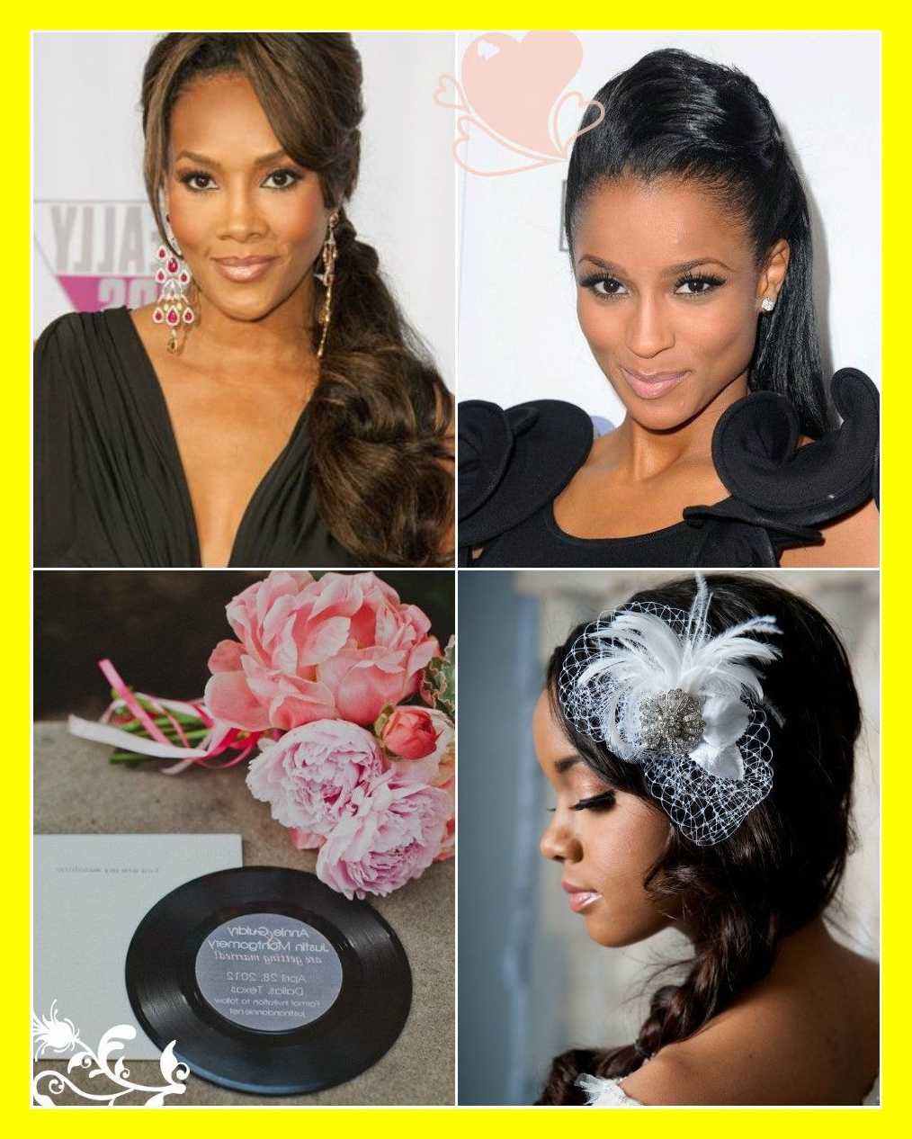 Most Recently Released Wedding Hairstyles For African American Bridesmaids Within Inspiring Black Ponytail For Bridesmaid My Style Wedding Hair (View 8 of 15)