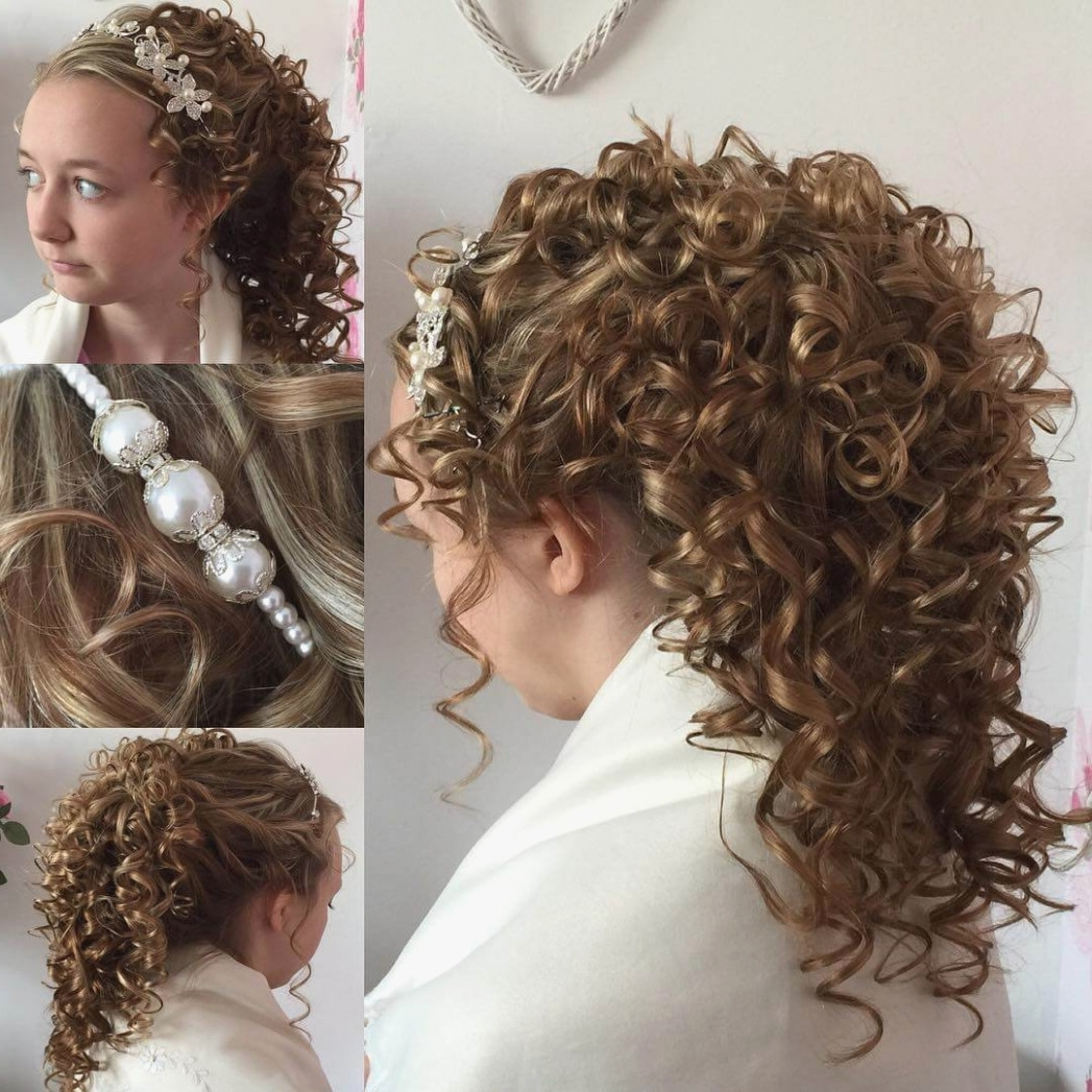 Most Recently Released Wedding Hairstyles For Long Curly Hair Pertaining To 13 Curly Wedding Hairstyle Ideas, Designs (View 14 of 15)
