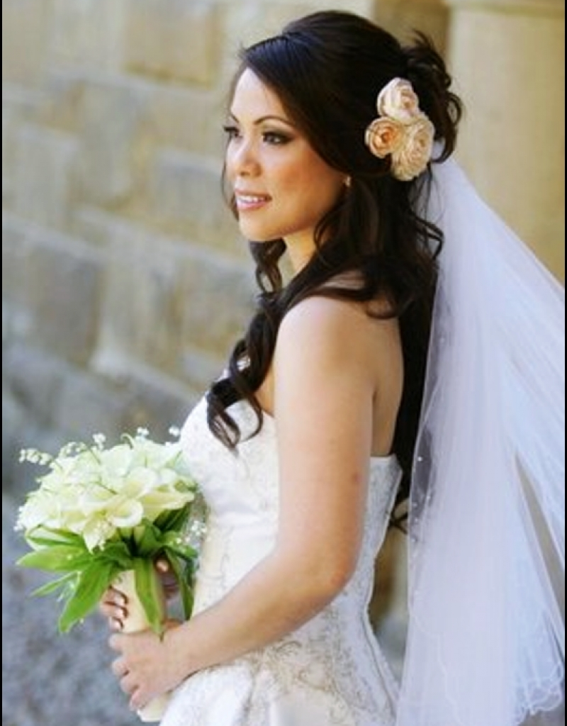 Most Recently Released Wedding Hairstyles For Long Hair And Veil Pertaining To Tropical Wedding Hairstyles Beach Wedding Hairstyles Long Hair (View 13 of 15)