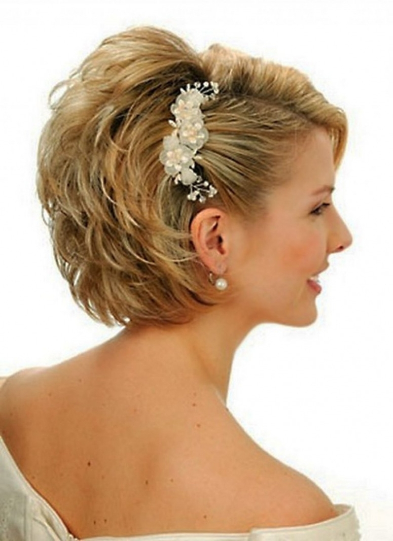 Most Recently Released Wedding Hairstyles For Very Short Hair Pertaining To Bridesmaid Hairstyle Short Hair Wedding Hairstyles For Short Hair (View 7 of 15)