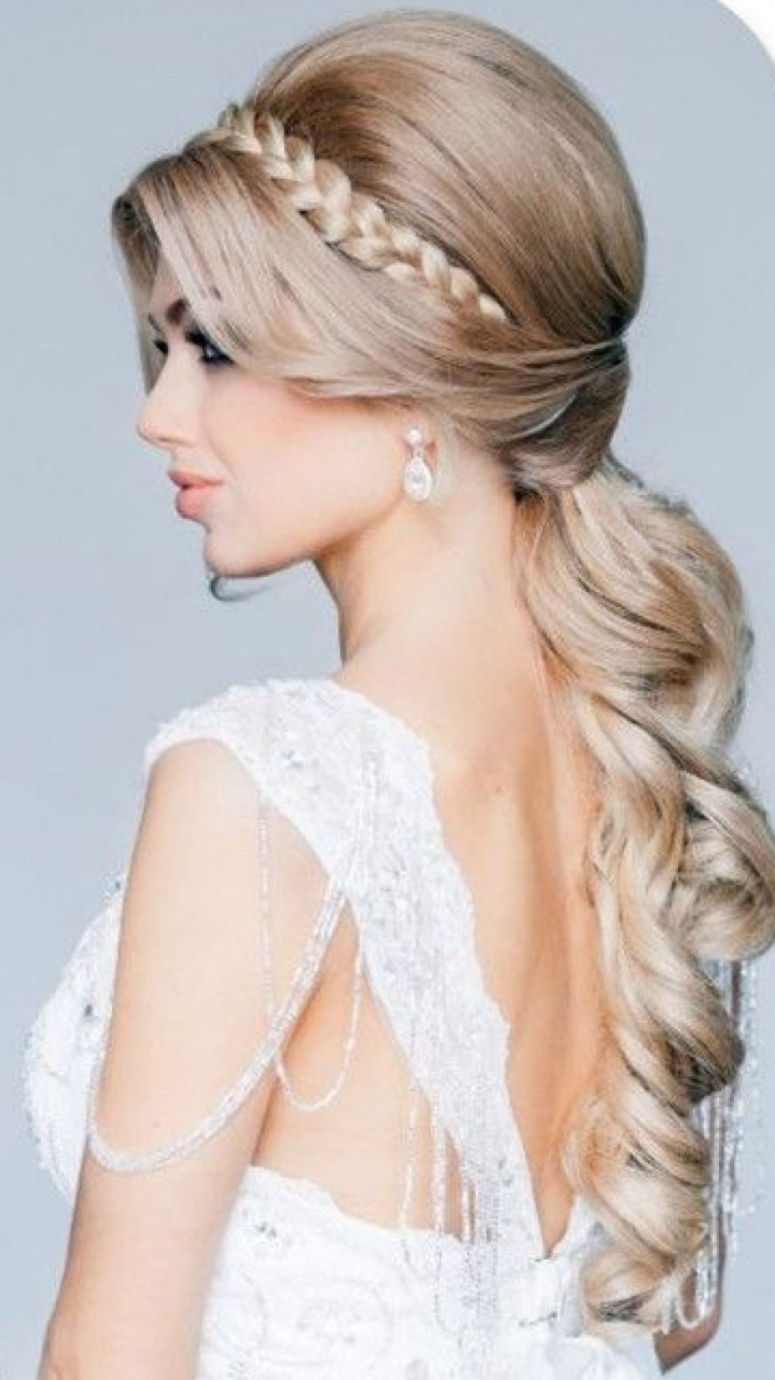 Most Recently Released Wedding Hairstyles With Ponytail Throughout Ponytail Bridal Hairstyles Side Ponytail Wedding Hairstyles Ideas (View 3 of 15)