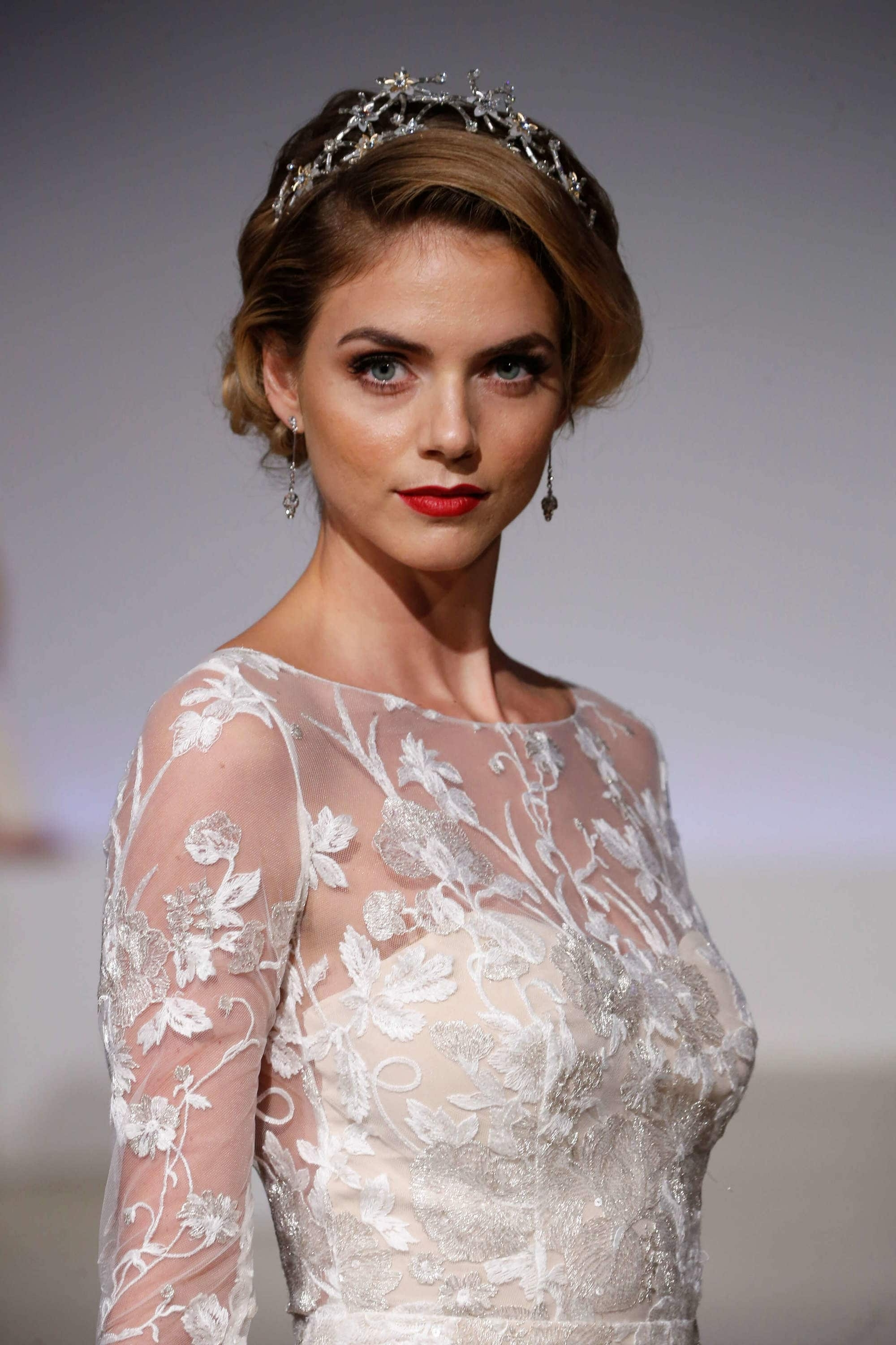 Most Recently Released Wedding Updos For Long Hair With Tiara For Wedding Updos For Long Hair: 30 Looks For Brides For All Seasons (View 10 of 15)