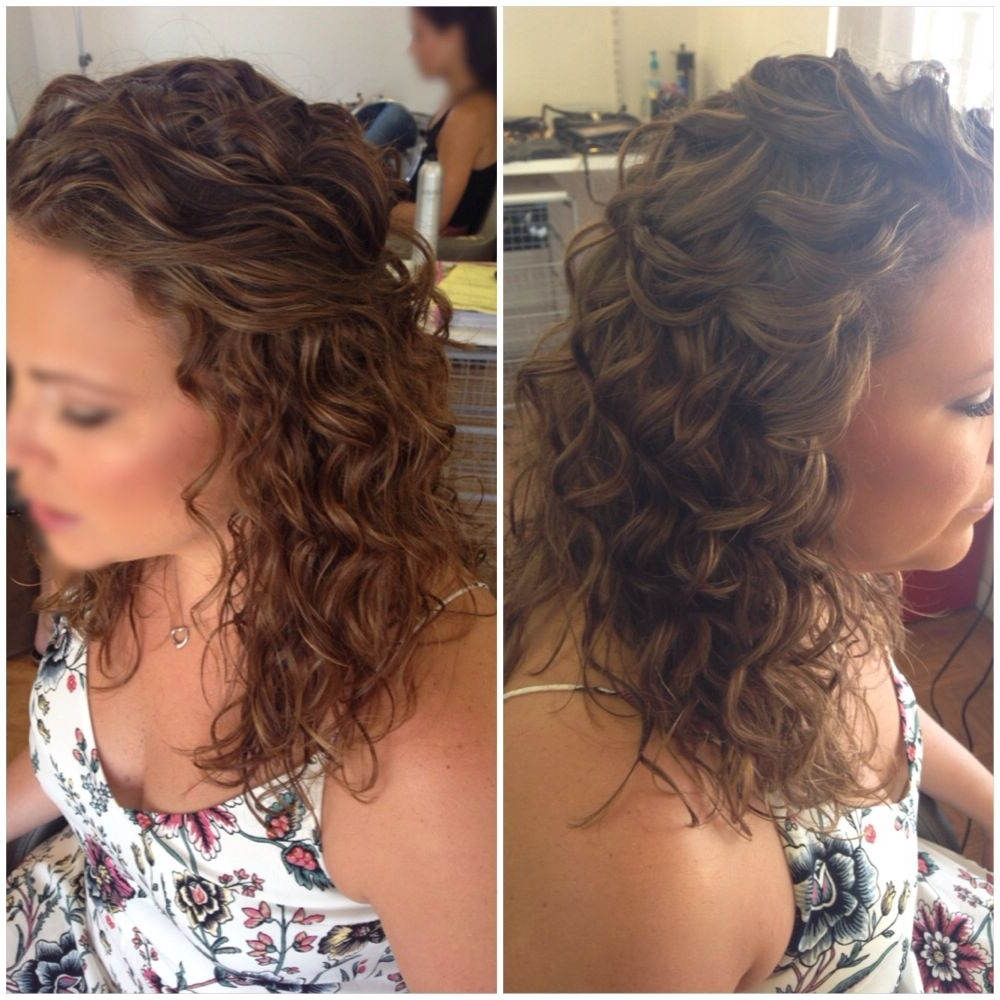 Most Up To Date Curly Hair Half Up Wedding Hairstyles For Bridal Hair, Wedding Hair, Half Up Half Down, Curly Hair, Natural (View 9 of 15)