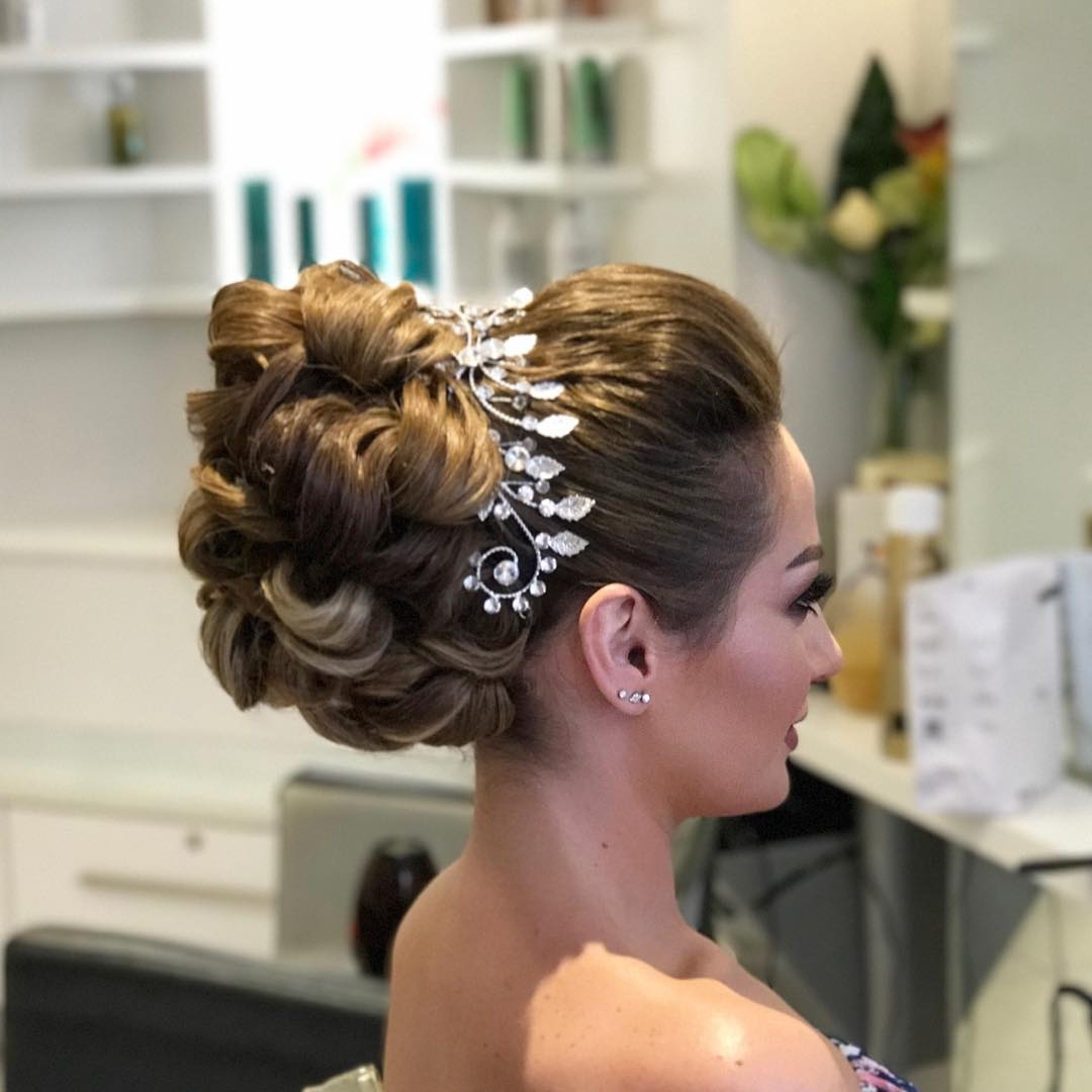Most Up To Date High Bun Wedding Hairstyles In 30 Wedding Hairstyles For A Perfect Bridal Look – Page 2 Of  (View 8 of 15)