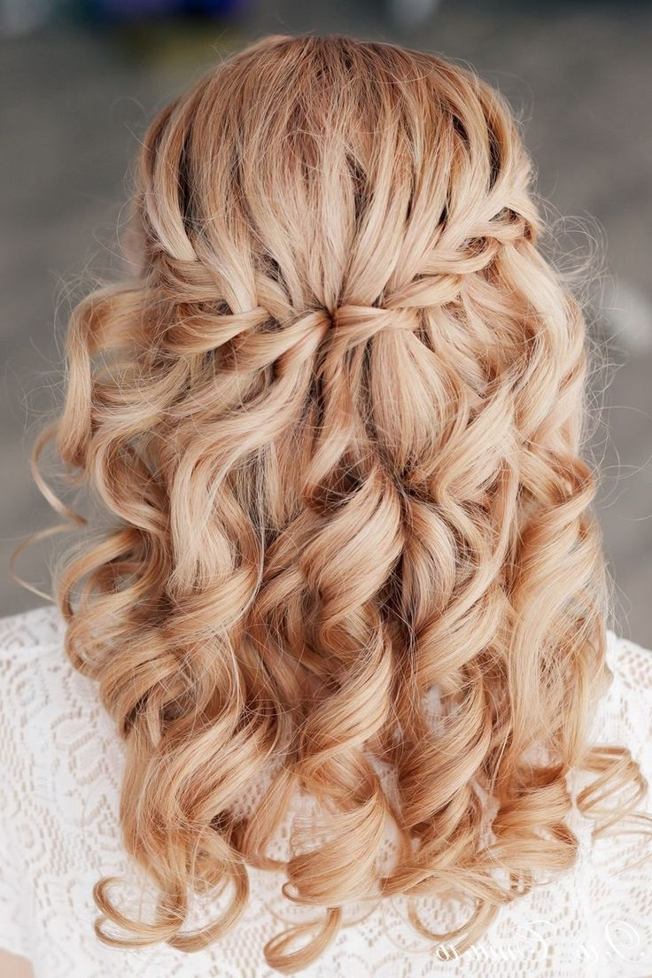 Most Up To Date Plaits And Curls Wedding Hairstyles For Wedding Hairstyles Plaits Ideas About Waterfall Braids On Pinterest (View 6 of 15)
