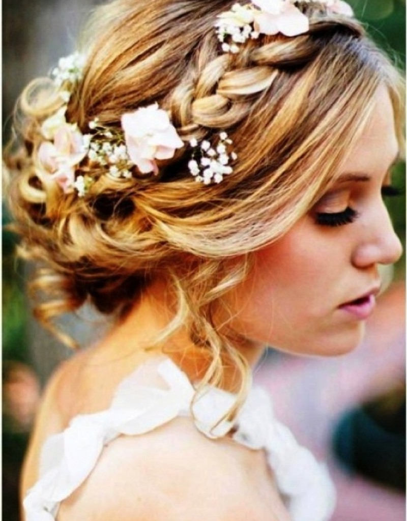Most Up To Date Roses Wedding Hairstyles Pertaining To Elegant Flower Wedding Hairstyles 25 In Wedding Flower Ideas With (View 12 of 15)